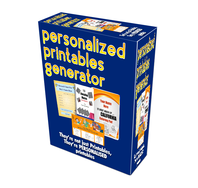 Personalised Printables Generator